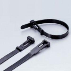 エスケイ工機 SKリリースタイ 再使用可能 標準グレード 全長200mm 幅8.9mm 100本入り RS-200HC|dendenichiba