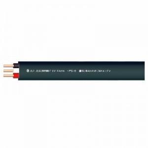 菅波電線 600Vビニル絶縁ビニルシースケーブル平形 2.0mm 3心 100m巻 黒 VVF2.0×3Cクロ×100m