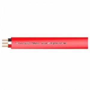菅波電線 600Vビニル絶縁ビニルシースケーブル平形 2.0mm 3心 100m巻 赤 VVF2.0×3Cアカ×100m