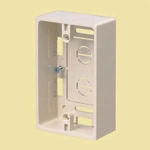 未来工業 プラモール用 モール用スイッチボックス(ケーブル配線用露出スイッチボックス) 1ケ用 カベ白 MSB-1W|dendenichiba