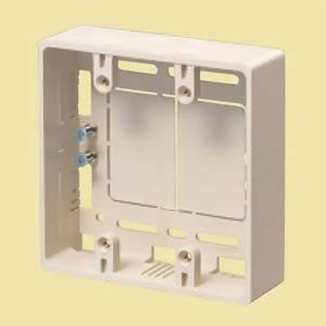 未来工業 プラモール用 モール用スイッチボックス(ケーブル配線用露出スイッチボックス) 2ケ用 カベ白 MSB-2W dendenichiba