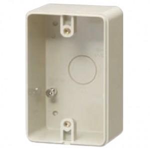 未来工業 露出スイッチボックス 防水コンセント用 片側接地タイプ 1ヶ用 ベージュ PVR-0BC0J|dendenichiba