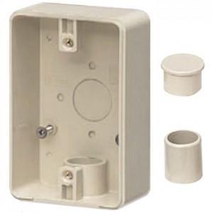 未来工業 露出スイッチボックス 防水コンセント用 VE14・16用 1方出 ミルキーホワイト PVR16-BC1M|dendenichiba