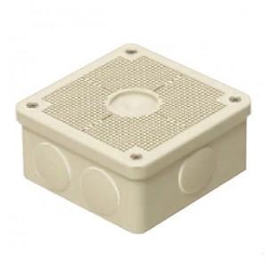 未来工業 露出用四角ボックス 取付自在蓋 ケーブルブッシング付き ベージュ PV4B-ANFJ|dendenichiba