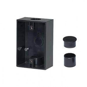 未来工業 露出スイッチボックス 防水コンセント用 VE16・22 1方出 ブラック PVR22-BC1K|dendenichiba