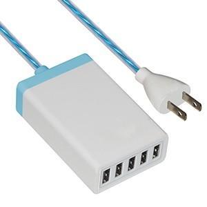 藤本電業 イルミネーションAC充電器 USB5ポート 最大合計6.5A ホワイト CA-05WH