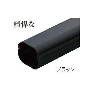 因幡電工 ケース販売特価 5本セット スリムダクトLD 配管化粧カバー 直管 90タイプ ブラック LD-90-K_set|dendenichiba