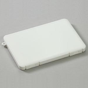アーテック プラスチック製マスクケースミニ ストラップ穴付 3〜6枚収納可能 ホワイト 051487 dendenichiba