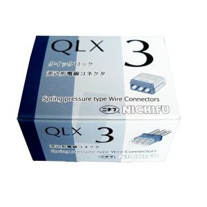 ニチフ クイックロック 差込形電線コネクター 極数:3 青透明 (1ケース50個入) QLX3 dendenichiba