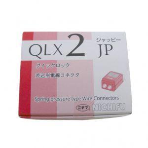 ジャッピー/因幡電機 クイックロック 差込形電線コネクター 極数:2 赤透明 (1ケース50個入) QLX2-JP-RCL dendenichiba