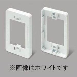 マサル工業 ニュー・エフモール 付属品 コンセント用引出フレーム 1個用 ホワイト SFBK12|dendenichiba