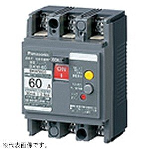 パナソニック 漏電ブレーカ BKW-60型 2P2E 40A 100mA O.C付 盤用 BKW24041|dendenichiba