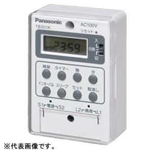 パナソニック 24時間式タイムスイッチ ボックス型 電子式 AC100V用 同一回路 TB201K|dendenichiba