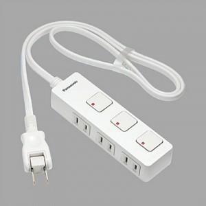 【特長】 ●ランプを使わずに電源の「入(赤)」「切(白)」を色で見分けるスイッチ付タップです。 ●フ...