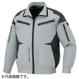 アイトス 空調服(TM) AZITO 長袖ブルゾンタイプ Lサイズ シルバーグレー AZ-30589-003-L|dendenichiba