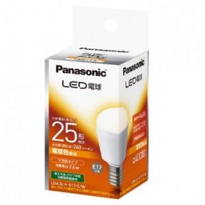 パナソニック LED電球 小形電球形 電球色相当 下方向タイプ 明るさ電球25形相当 260lm E17口金 LDA3L-H-E17/E/W|dendenichiba