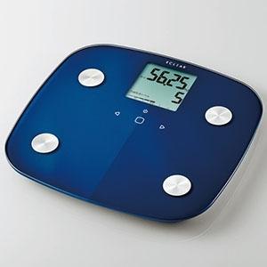 ELECOM 体組成計 ECLEAR 電池式 計量範囲2.5〜150kg ブルー HCS-FS01BU|dendenichiba