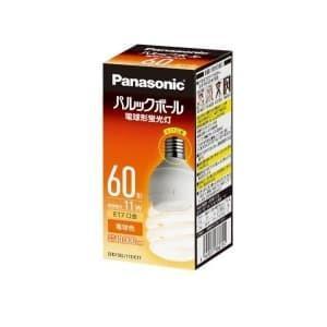パナソニック 電球形蛍光灯 パルックボール D形(発光管露出形) 60W形 電球色 E17口金 EFD15EL/11E/E17F2|dendenichiba