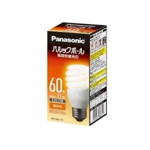 パナソニック ケース販売特価 10個セット 電球形蛍光灯 パルックボール D形(発光管露出形) 60W形 電球色 E26口金 EFD15EL/11EF2_set|dendenichiba