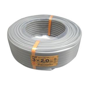 富士電線 VVFケーブル 平形 100m巻 VVF2.0*3C*100m