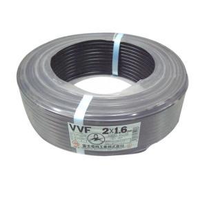 富士電線 VVFケーブル 平形 100m巻 (黒) VVF1.6*2C*100Mクロ