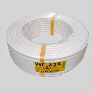 富士電線 VVFケーブル白 VVF2.0*3C*100M シロ