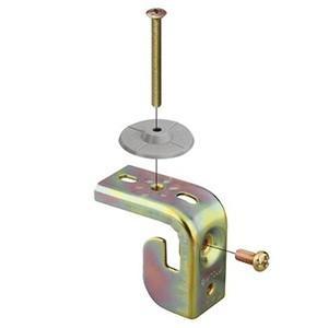 ネグロス電工 ケース販売 20個セット リップみぞ形鋼用がいし支持金具 アングラック 小ノップ K10LA_set dendenichiba