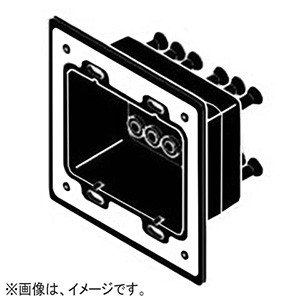 ネグロス電工 高気密型クリーンルーム内ボックス防塵パッキン ルフトロック 軽量間仕切り用 角形 スイッチ・コンセント2個用 CR45WR35 dendenichiba