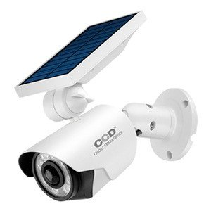 オンスクエア 2台セット 防犯カメラ型LEDセンサーライト ソーラー充電式 700lm 昼光色 防水防塵IP66相当 OL-334W_2set|dendenichiba