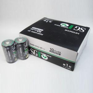 在庫限り 日立 マンガン乾電池 SGシリーズ 単1形 20本セット(2本パック×10) R20PUSG2P_10set|dendenichiba