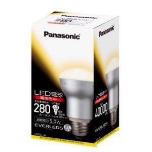 パナソニック ケース販売 10個セット LED電球 EVERLEDS エバーレッズ レフ電球タイプ 40W形相当 全光束:280lm 電球色相当 E26口金 LDR5L-W_set|dendenichiba