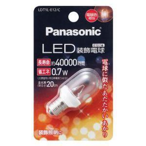 パナソニック LED装飾電球 T形タイプ クリアタイプ 電球色相当 全光束20lm E12口金 LDT1L-E12/C dendenichiba