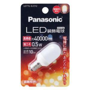 パナソニック LED装飾電球 T形タイプ 5W相当 電球色相当 全光束10lm E12口金 LDT1L-G-E12|dendenichiba