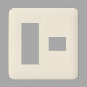パナソニック フルカラー モダンプレート 4コ(3コ+1コ)用 ミルキーホワイト WN6074W|dendenichiba