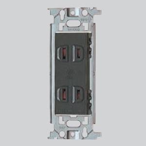 パナソニック フルカラー 埋込ダブルコンセント 取付枠付 15A 125V グレー WN1302H dendenichiba