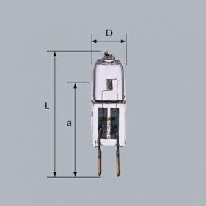 三菱 ミニハロゲンランプ HALOSTAR STARLITE 6V 10W G4口金 J6V10W-AXS|dendenichiba