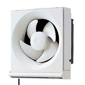 三菱 標準換気扇 一般住宅用 台所用 連動式シャッター 引きひも付 電源コード(プラグ付) 15cm EX-15KH5|dendenichiba