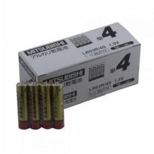 三菱 アルカリ乾電池 単4形 40本セット(4本パック×10個入) LR03R/4S_10set|dendenichiba