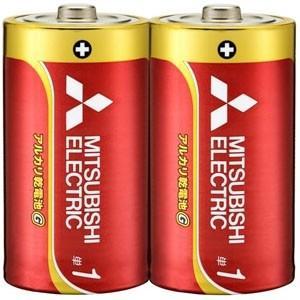 三菱 アルカリ乾電池 長持ちパワー Gシリーズ 単1形 2本パック LR20GD/2S|dendenichiba