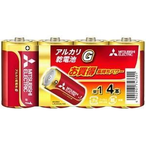 三菱 アルカリ乾電池 長持ちパワー Gシリーズ 単1形 4本パック LR20GD/4S|dendenichiba