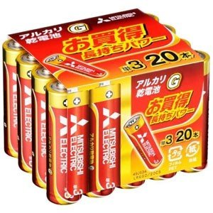 【仕様】●メーカー:三菱 ●型番:LR6GD20CS ●商品名:アルカリ乾電池 ●アルカリ乾電池 単...