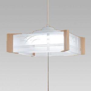 生産完了品 NEC 和風LEDペンダントライト 〜6畳用 昼光色 調光機能付 HCDA0609|dendenichiba