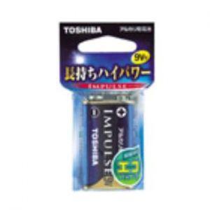 東芝 アルカリ乾電池 IMPULSE エコパッケージ 9V形×1個入 6LF22HEC|dendenichiba