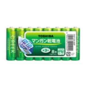 東芝 鉛無添加マンガン乾電池 KING POWER CREEK まとめパック 単3形×8本入 R6PEM8MP|dendenichiba
