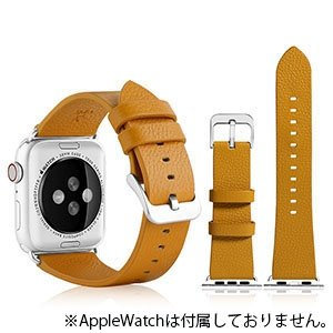 VPG 本革AppleWatchバンド 38-40mm用 イエロー AW-LE01YE