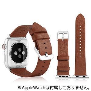 VPG 本革AppleWatchバンド 38-40mm用 ブラウン AW-LE01BR