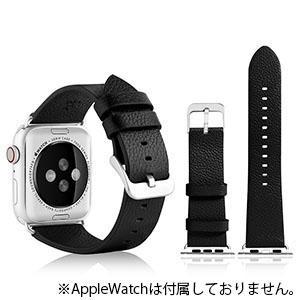 VPG 本革AppleWatchバンド 42-44mm用 ブラック AW-LE02BK