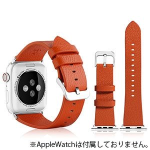 VPG 本革AppleWatchバンド 42-44mm用 オレンジ AW-LE02OR