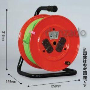 日動工業 100V 一般型ドラム アース無 2P 15A 125V コンセント数:4 長さ30m VCT1.25×2 NR-304Dソフトン|dendenichiba