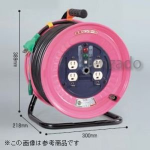 日動工業 100V 一般型ドラム アース付 接地 2P 15A 125V コンセント数:4 長さ30m VCT2.0×3 アースチェックランプ付 ND-E34|dendenichiba